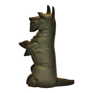 Vintage Cast Iron Scotty Dog Doorstop