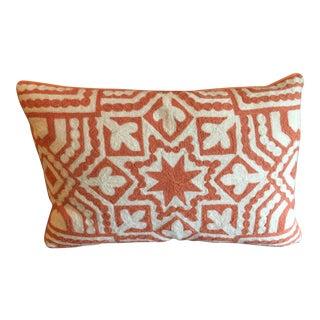 Orange & Ivory Lumbar Pillow