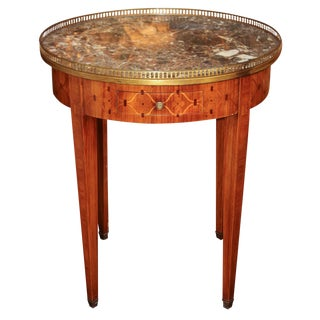French Marquetry Inlaid Bouillotte Table