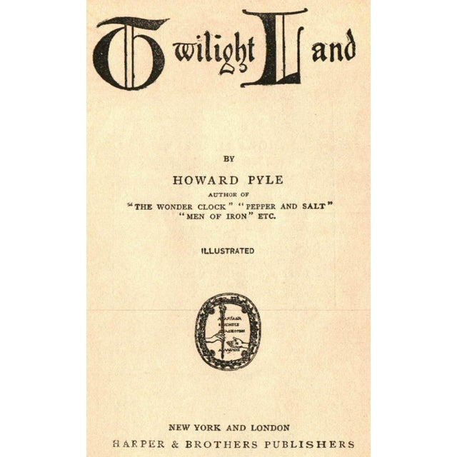"Image of ""Twilight Land"" 1922 Book By Howard Pyle"