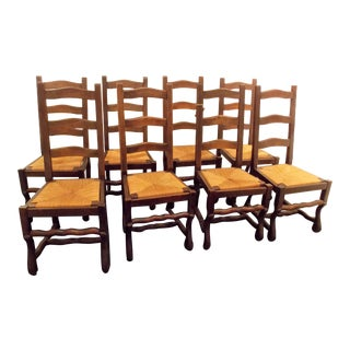 Vintage French Dining Chairs - Set of 8