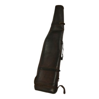 Vintage Mutton English Leather Hunter Gun Case