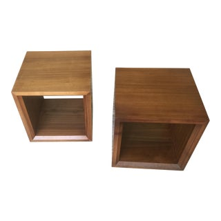 Crate & Barrel Sanders Cube Tables - A Pair