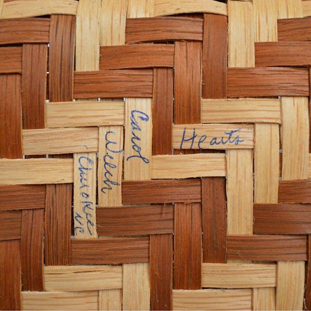 Carol Welch Cherokee White Oak Purse Basket - Image 9 of 10
