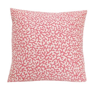 Outdoor/Indoor Coral Print Pillow