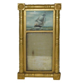 Gilt Wood Eglomise Mirror
