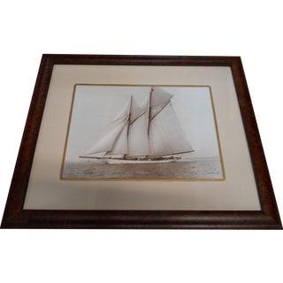Framed Sepia Sailing Print