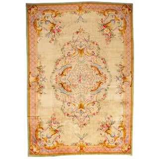 Antique Oversize Savonnerie Carpet