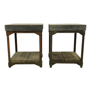 Early 20th Century Industrial Tables - a Pair
