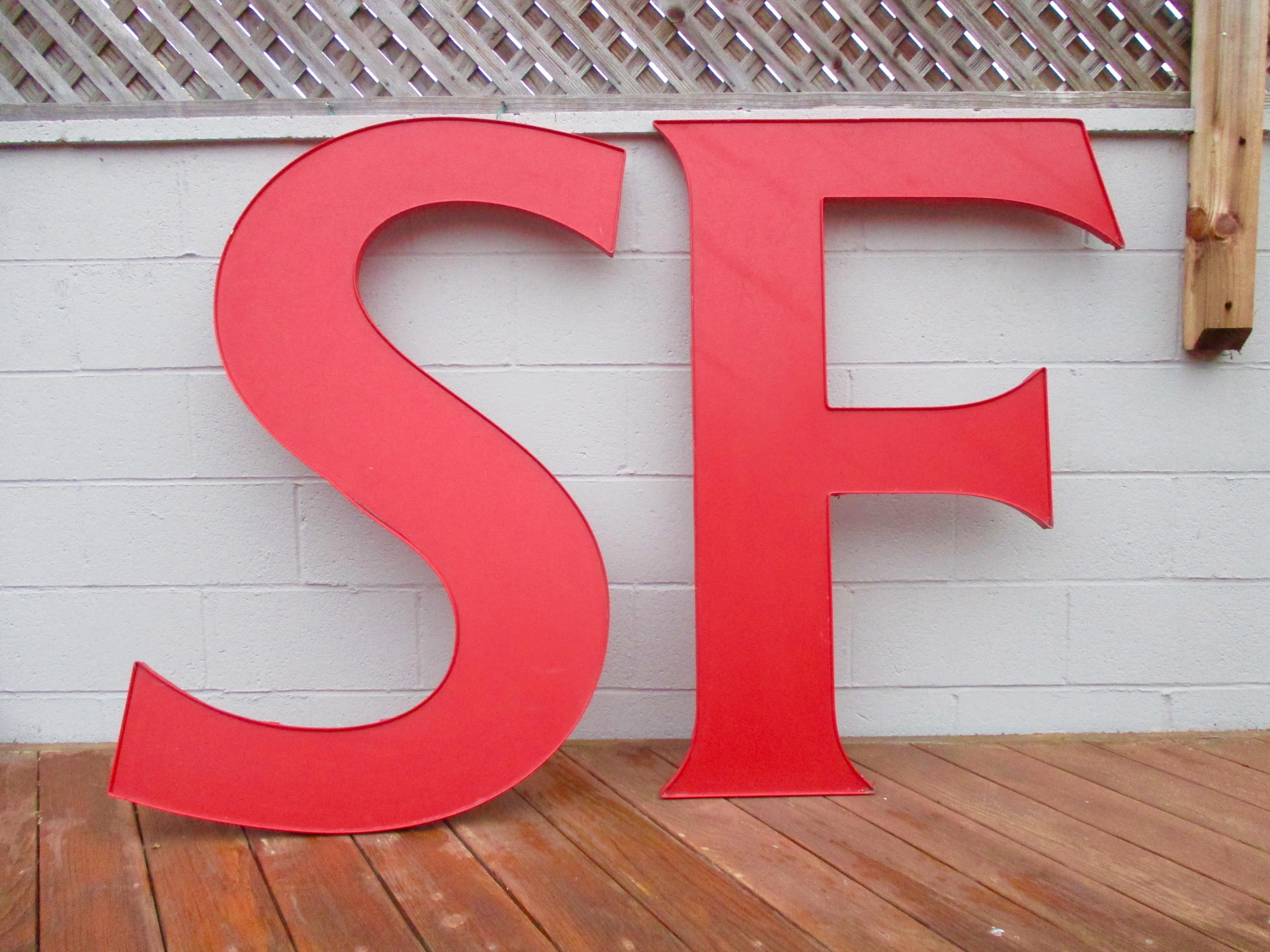 S F San Francisco California Pop Art Prop   S/2 Sign Letters   Image 2