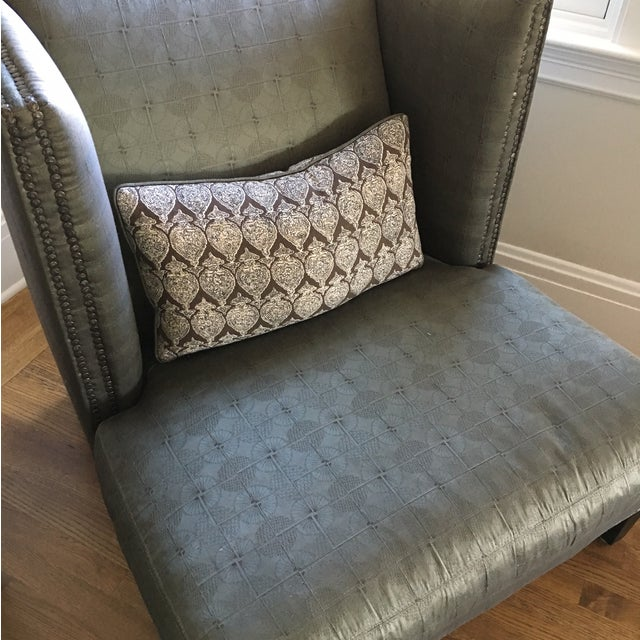 Image of Deep Olive Toned Lee Chair and Ottoman