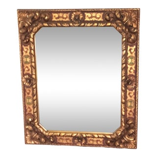 Antique Gold, Red & Green Mirror