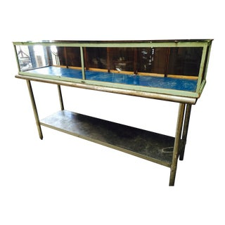 Artisanal 1930s Wood Frame Glass Display Case