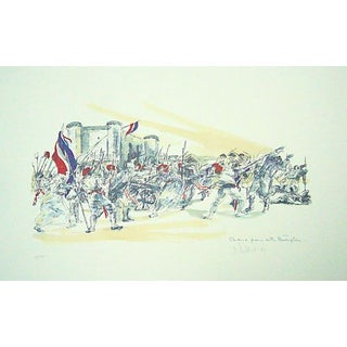 Vintage French Lithograph of the French Revolution