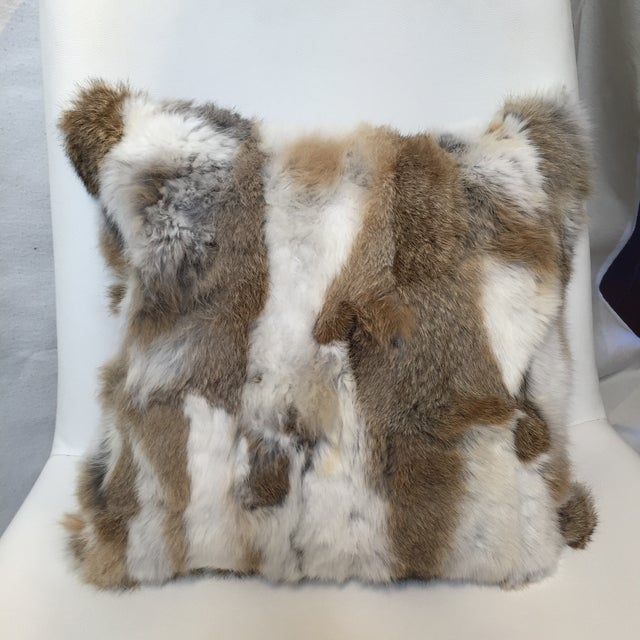 Rabbit Fur Down Pillow - Image 2 of 6