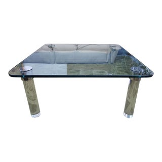Vintage Pace Collection Lucite & Chrome Legs Coffee Table