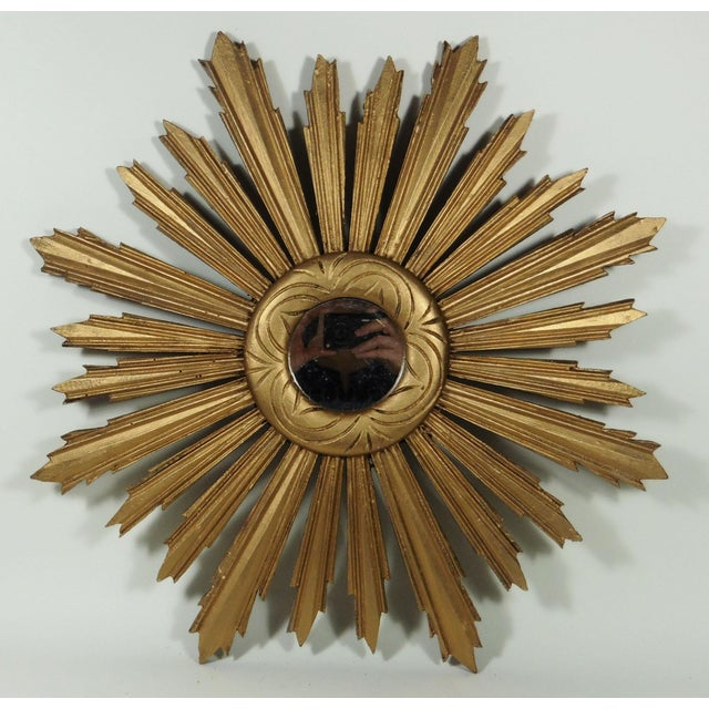 Image of Gilded Sunburst Mirror