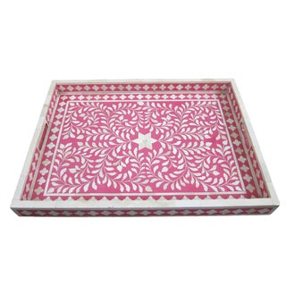 Traditional Bone Inlay Serving Tray
