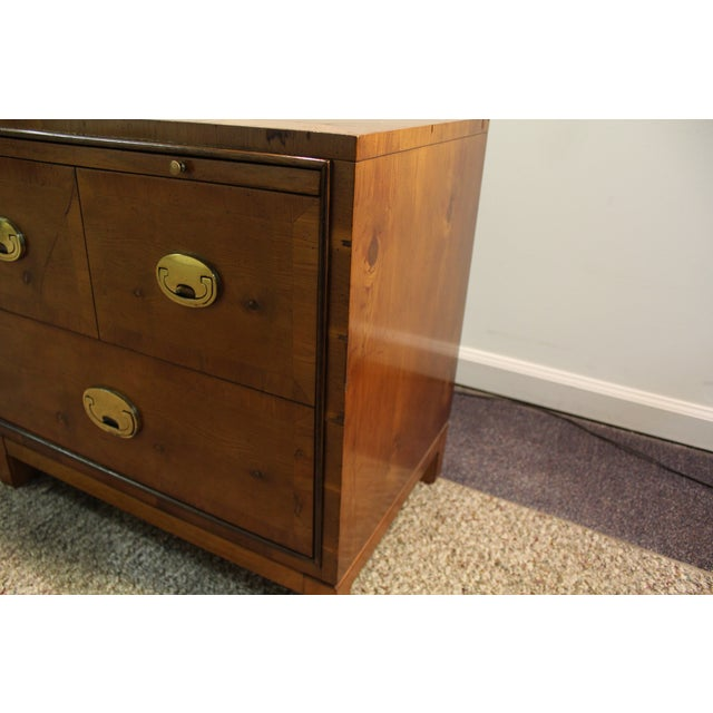 Mid-Century Campaign Style Nightstands - A Pair - Image 10 of 11