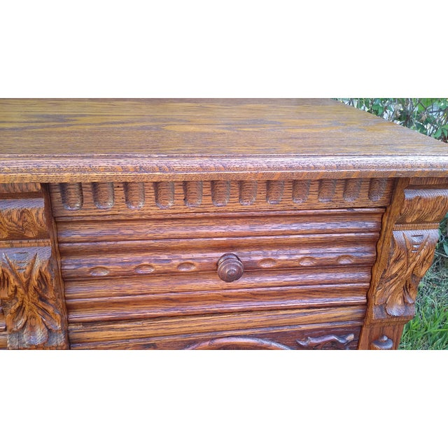 Oak Jacobean Server - Image 8 of 9