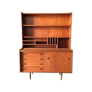 Danish Modern Teak Hutch Secretary