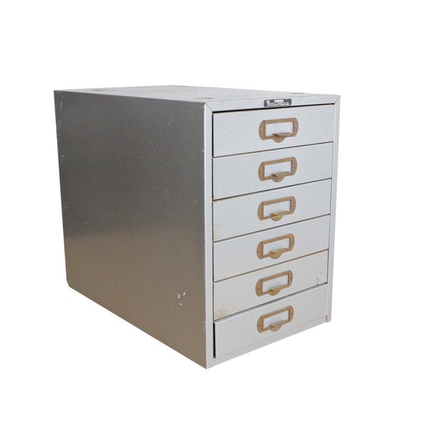 Image of 1950's Industrial File Cabinet