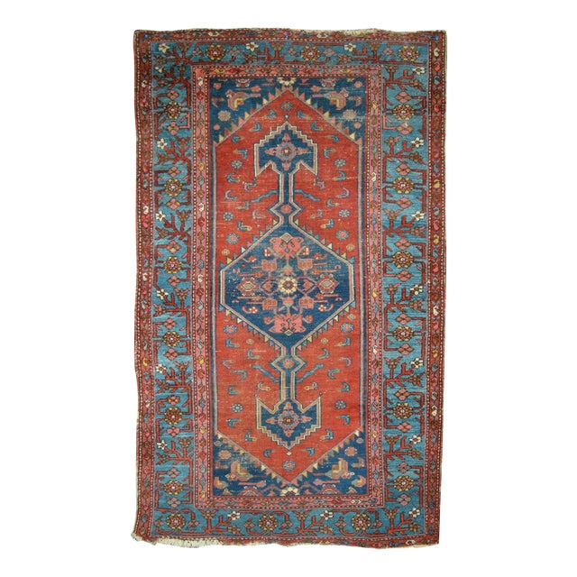 "Vintage Persian Rug - 3'7"" x 6'1"" - Image 1 of 5"