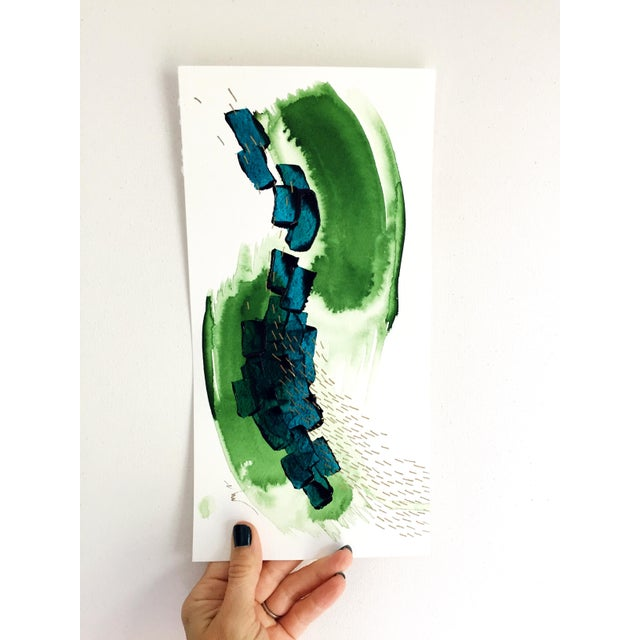 "Beth Winterburn Original Abstract Painting - ""8/1. 5."" - Image 3 of 3"