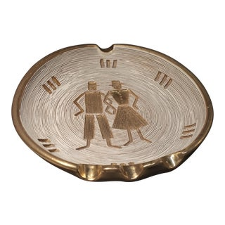 Signed Mid Century Modern Figurative Cigar Ashtray
