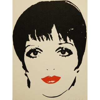 Liza Minelli by Andy Warhol, Signed, Numbered & Framed