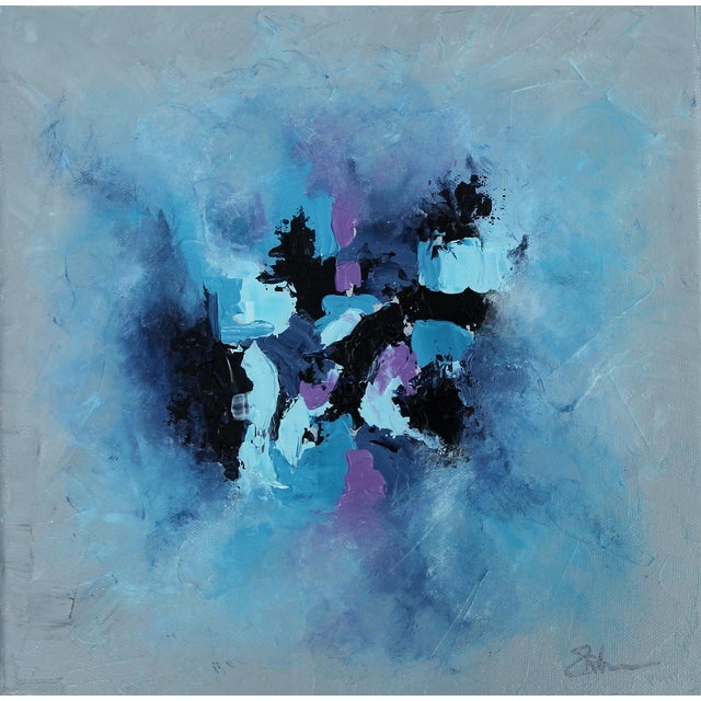 """Harbor Mist,"" Acrylic Painting - Celeste Plowden - Image 1 of 4"