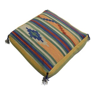 Turkish Hand Woven Floor Cushion Cover Cotton - 26″ X 26″