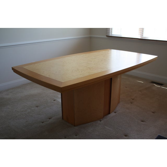 Italian Excelsior Burl Maple Dining Table