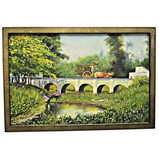 Rural Cuban Landscape Oil on Canvas