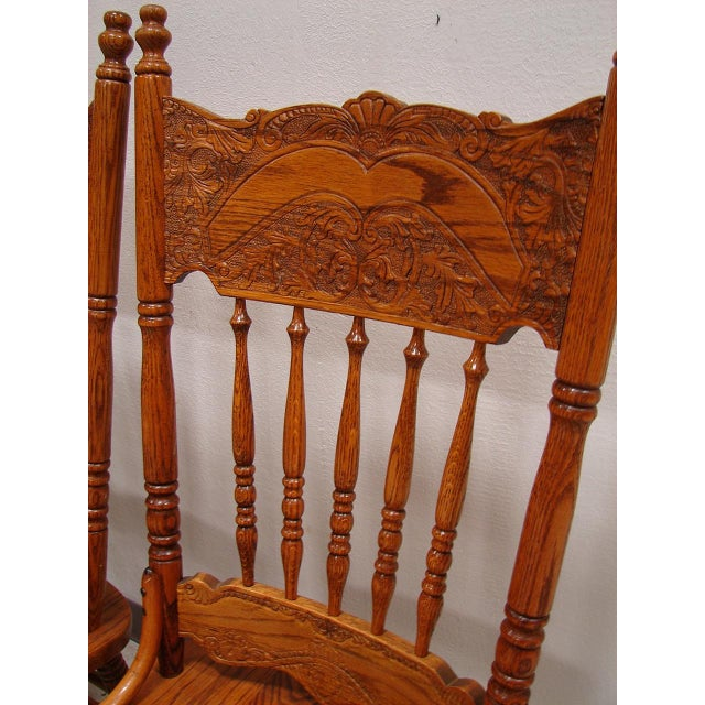 French Country Kitchen Chairs: French Country Oak Dining Kitchen Chair Set