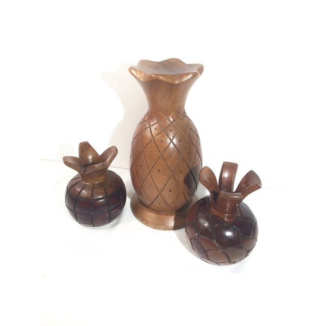 Collected Carved Pineapples- Set of 3 - Image 4 of 6