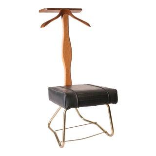 Setwell Mid Century Modern Black Vinyl Butler Chair