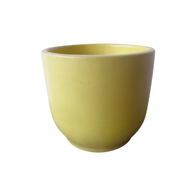 Gainey Architectural Pottery Yellow Planter Pot - Image 1 of 6