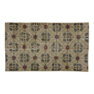 "Vintage Turkish Zeki Muren Distressed Sivas Area Rug - 3'11"" X 6'9"""