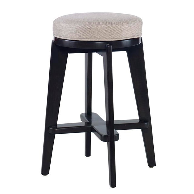 Image of Kravet Black Painted Rennes Bar Stool