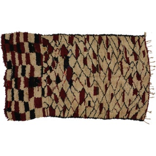Vintage Berber Moroccan Rug - 5′1″ × 8′7″