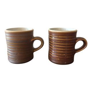 Mid-Century Tiki Style Mugs - A Pair