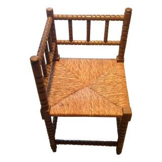 Corner Cane Spool Chair