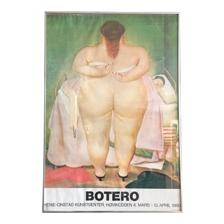 "RARE Original Botero ""The Morning After"" Exhibit Opening Poster"