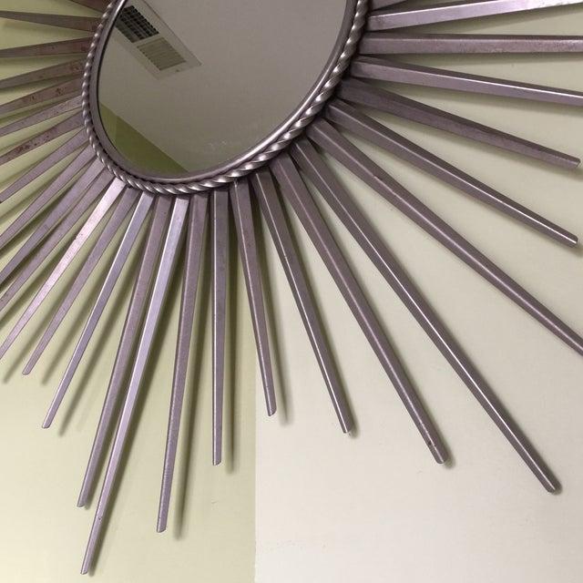 Silver Metal Starburst Mirror - Image 3 of 7