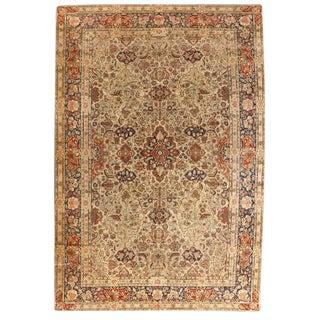 Exceptional Antique Dabir Kashan Carpet