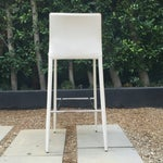Image of White PU Leather Bar Stool