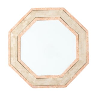 Maitland-Smith Octagonal Tessellated Stone Mirror