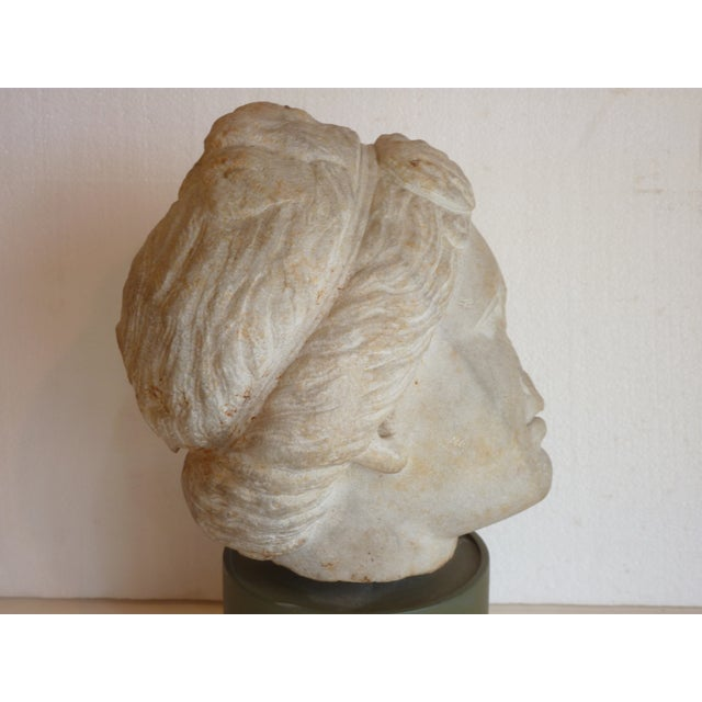 Carved Stone Head of Goddess - Image 3 of 5