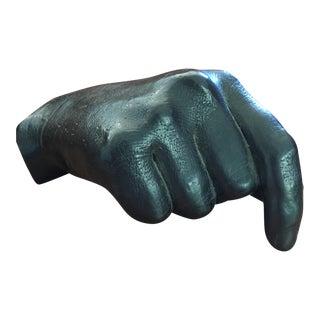 Artist Signed Human Hand Graphite Sculpture